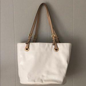 Michael Kors White Logo Shoulder Bag
